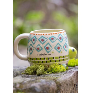 Turtle Folk Art Mug