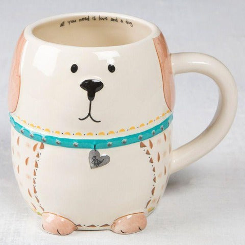 Dog Folk Art Mug