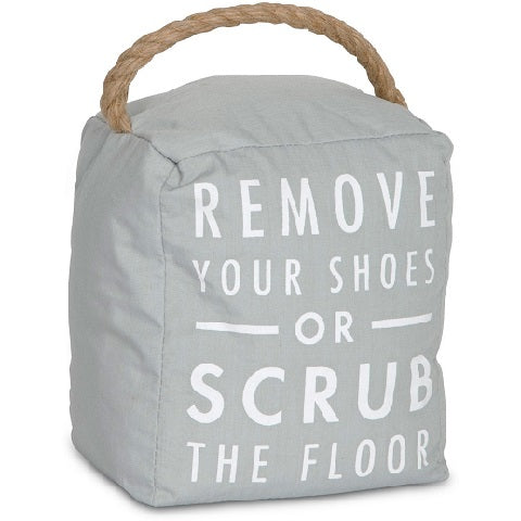 Remove Your Shoes Door Stopper