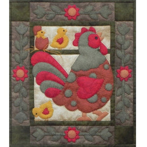 Spotty Rooster Wall Hanging Kit