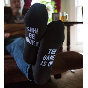 The Game Is On Mens Socks