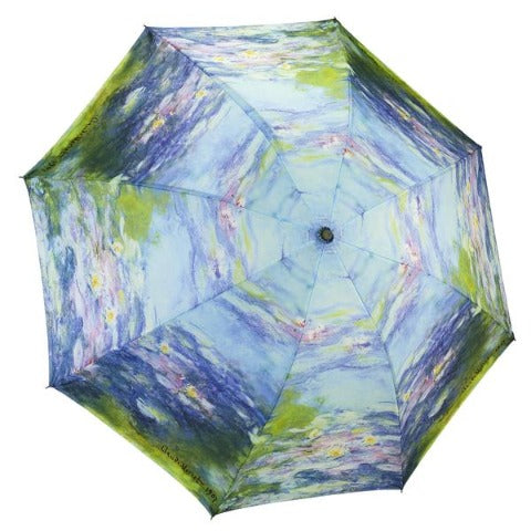 Water Lilies Reverse Close Umbrella