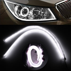 White Custom Flexible LED Running Lights (Two Piece Set)
