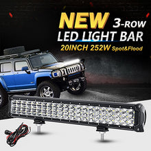 "3-Row LED High Power Light Bars (12"" - 44"" Inches)"