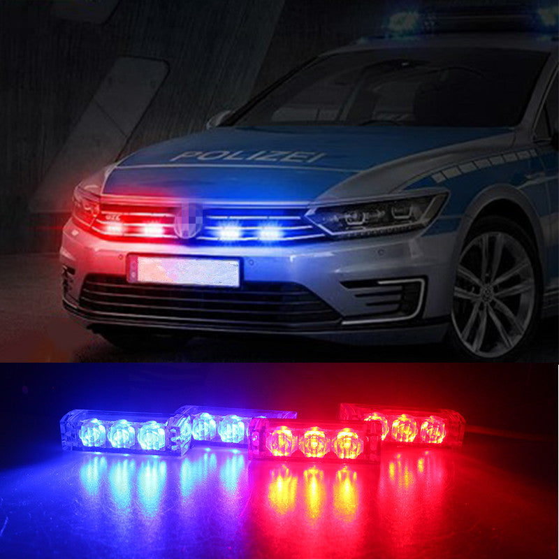 ... Emergency Style Grill Lights (Red, Blue, White, Amber) ...