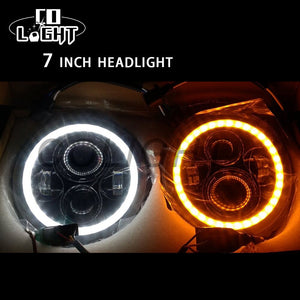 "White / Amber 7"" Headlights (2 Piece Set)"