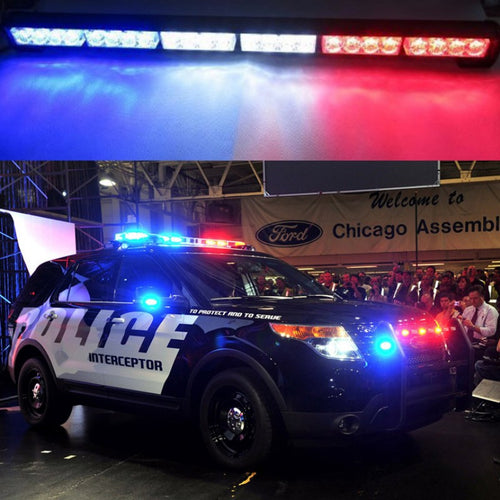 Red, White & Blue Emergency Style Light Bars (10