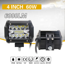 "4"" 60W LED 3-Row Flood & Spot Light"