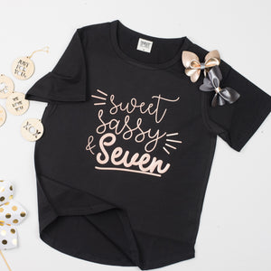 Sweet, Sassy, Seven | Birthday Tee