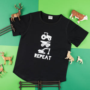Truck, Tractor, Digger Repeat | Scoop Tee