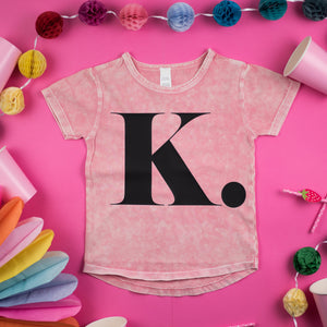 LIMITED EDITION | Pink Stonewash Initial Tee