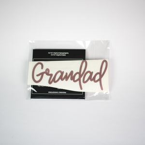 GRANDAD ROSE GOLD NAME DECAL  | RTS
