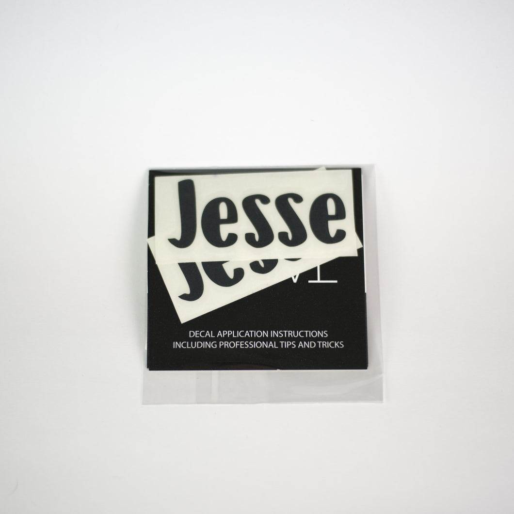 JESSE NAME DECALS  | RTS