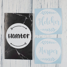 Name Decals | Small | Round set of 3+