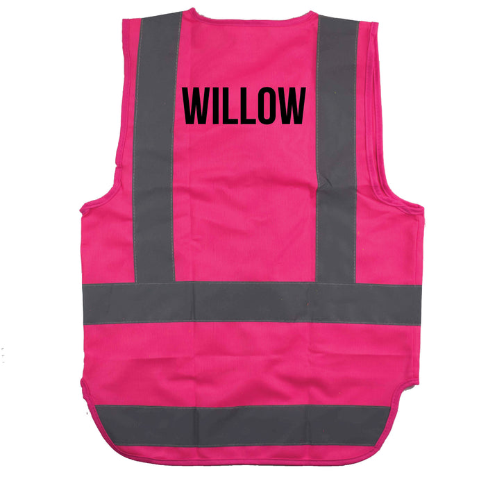 Kids HiVis Zip up Vest | PERSONALISED