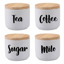 Tea, Coffee, Sugar, Milo decals