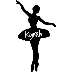 BALLERINA | Shaped Decal Set of 2