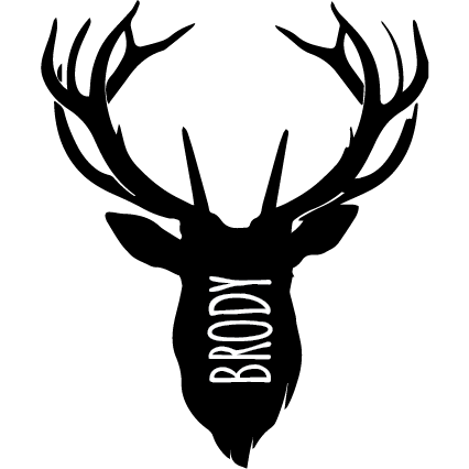 STAG HEAD | Shaped Decal Set of 2