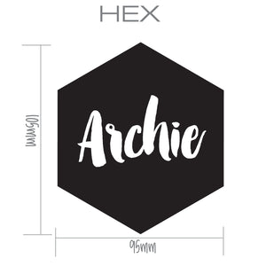 HEX | Shaped Decal Set of 2