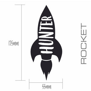 ROCKET | Shaped Decal Set of 2