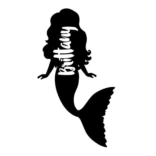 MERMAID | Shaped Decal Set of 2