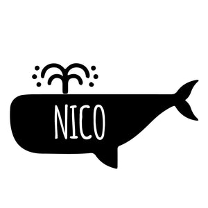 WHALE | Shaped Decal Set of 2