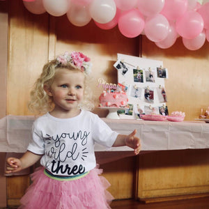 Young, Wild & Three | Birthday Tee