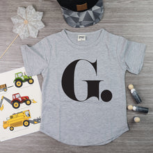 Initial Scoop Hem Tee | PERSONALISED