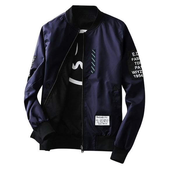 Mens Bomber Jacket Pilot with Patches