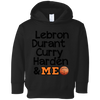 Image of Best Basketball Players Rabbit Skins Toddler Fleece Hoodie