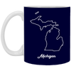Image of 13,Michigan map White Mug
