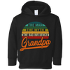 Image of 35,Grandpa the man the myth the bad influence vintage Rabbit Skins Toddler Fleece Hoodie