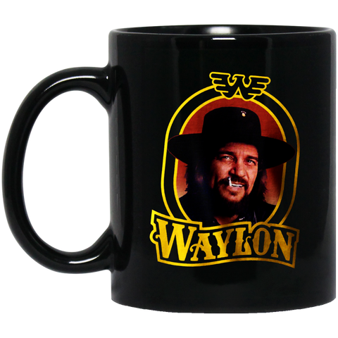 Waylon Jennings - BM11OZ 11 oz. Black Mug