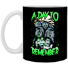 Image of A Day To Remember Halloween t-shirt, Art T-shirt White Mug