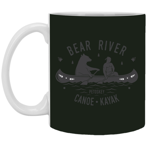 11,Bear River Petoskey Canoe _ Kayak White Mug