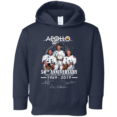 Apollo - First Man On The Moon Rabbit Skins Toddler Fleece Hoodie