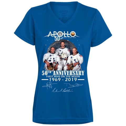 Apollo - First Man On The Moon 1790 Augusta Ladies' Wicking T-Shirt