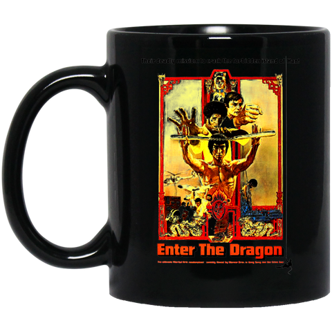 Enter The Dragon - BM11OZ 11 oz. Black Mug