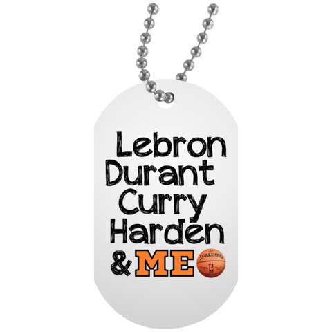 Best Basketball Players White Dog Tag