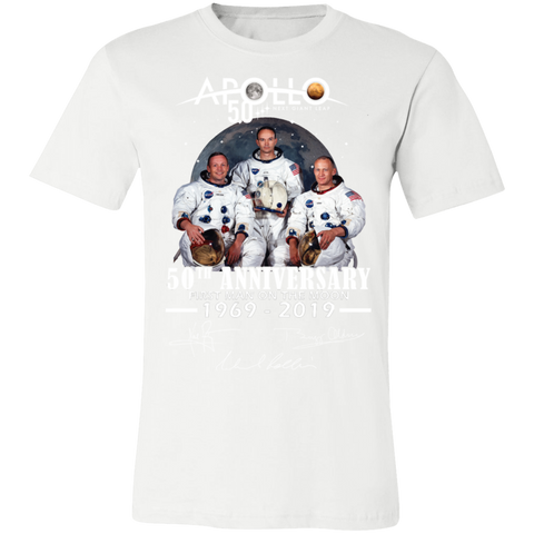 Apollo - First Man On The Moon Bella + Canvas Unisex Jersey Short-Sleeve T-Shirt