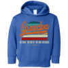 Image of 54,Grandpa the man the myth the bad influence retro Rabbit Skins Toddler Fleece Hoodie