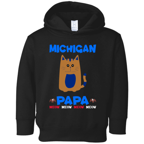 86,Michigan Papa T-shirt Mug Pillow Gift Rabbit Skins Toddler Fleece Hoodie