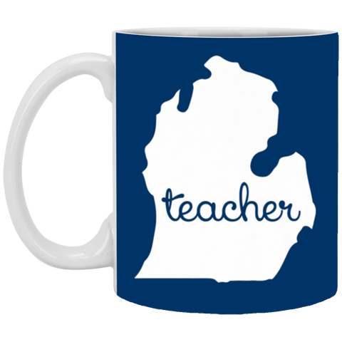 5,Michigan Teacher Outing Cool Motivational Country White Mug