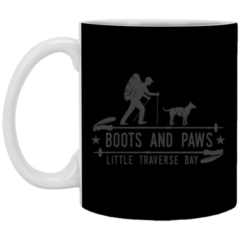 10,Boots and Paws Little Traverse Bay White Mug
