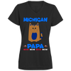 Image of 86,Michigan Papa T-shirt Mug Pillow Gift 1790 Augusta Ladies' Wicking T-Shirt