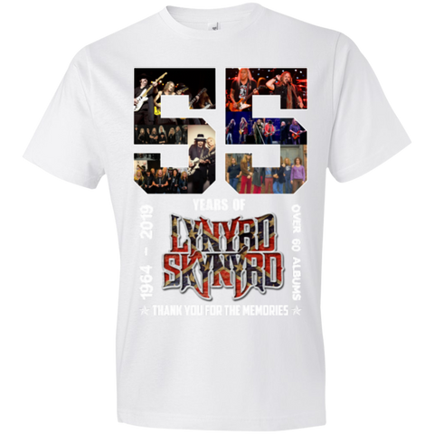 1,55 Years Of Lynyrd Skynyrd 1964 2019 Thank You Anvil Lightweight T-Shirt 4.5 oz