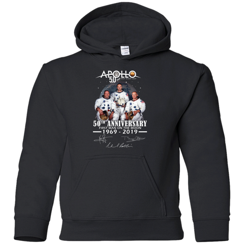 Apollo - First Man On The Moon Gildan Youth Pullover Hoodie