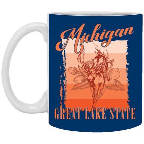 16,Michigan america state gift White Mug