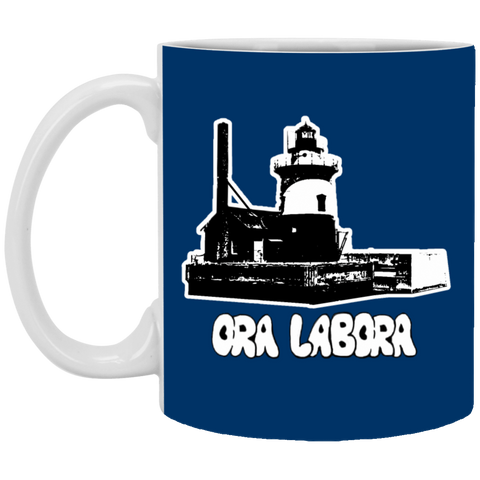 29,Lighthouse White Mug