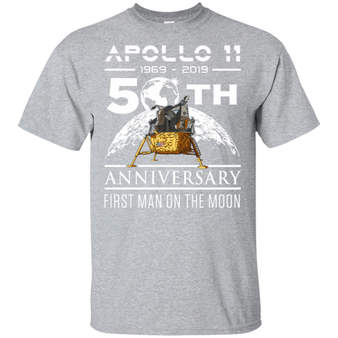 135,50th Anniversary Apollo 11 1969 with Lunar Lander Gildan Ultra Cotton T-Shirt
